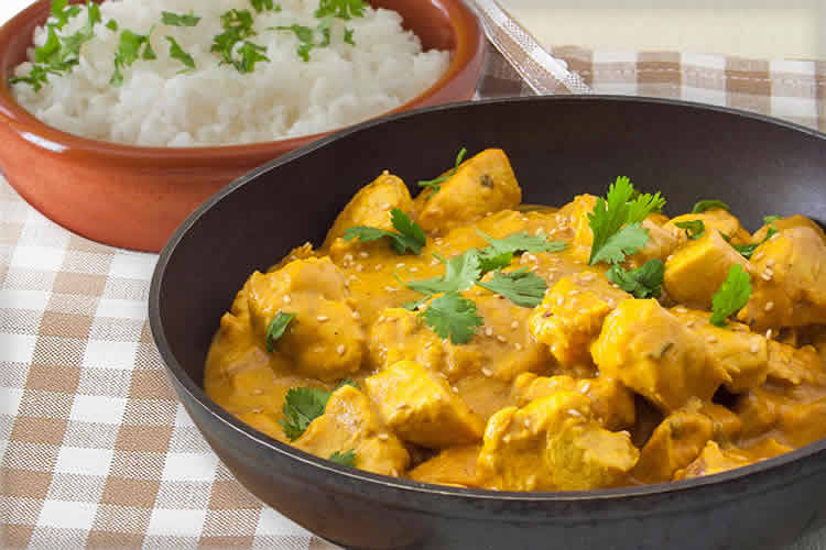 Poulet vanille coco curry